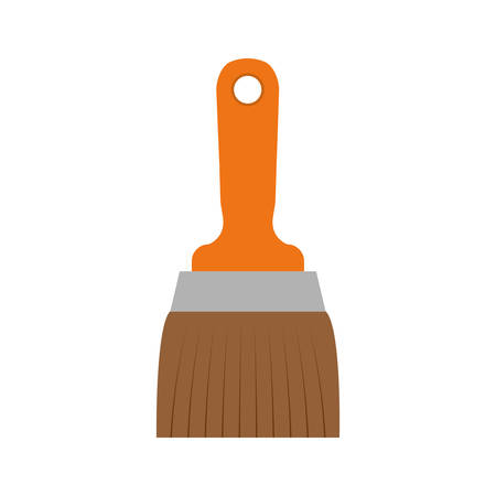 paint brush icon over white background. repairs tools design. vector illustration