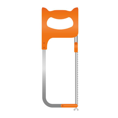 adjustment: hacksaw icon over white background. repairs tools design. vector illustration