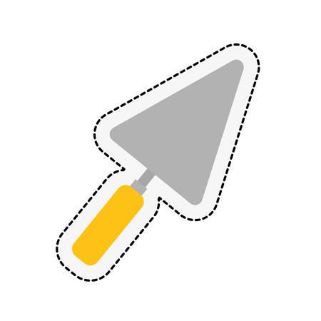 repairs: spatula icon over white background. repairs tools design. vector illustration