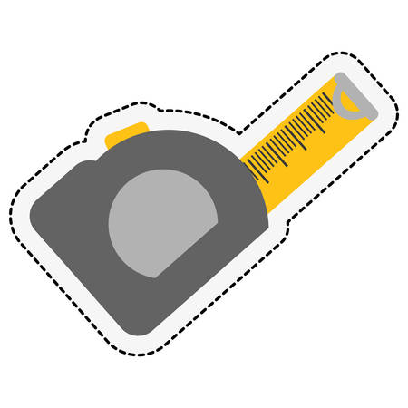 adjustment: tape measure icon over white background. repairs tools design. vector illustration