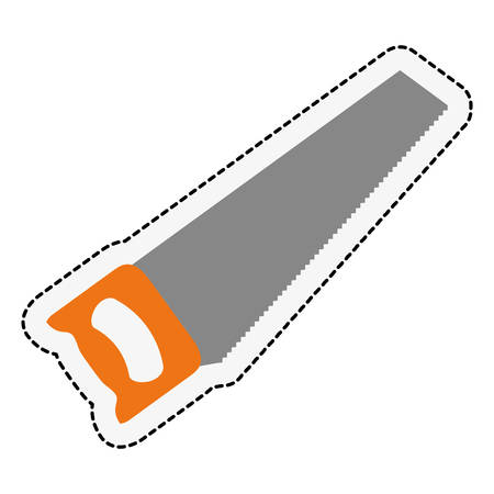 adjustment: saw icon over white background. repairs tools design. vector illustration Illustration