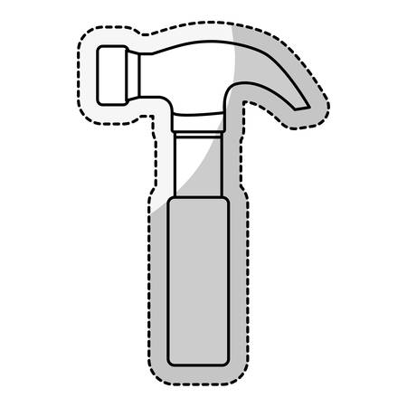 adjustment: hammer icon over white background. repairs tools design. vector illustration