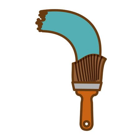 paint brush tool icon image vector illustration design Illustration