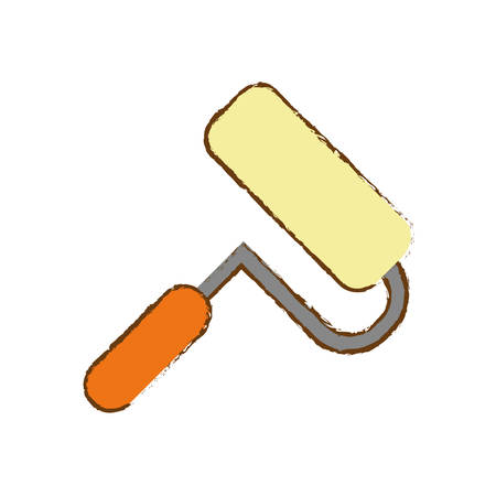 paint roller icon over white background. repair tools design. vector illustration Illustration