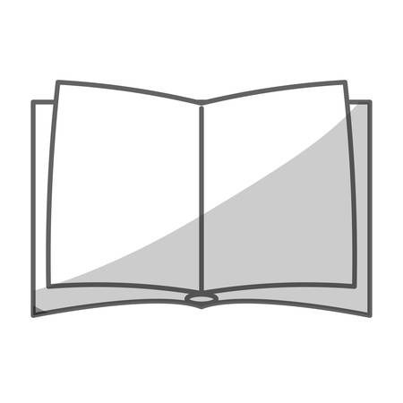 opened book: silhouette of opened book icon over white background. vector illustration Illustration