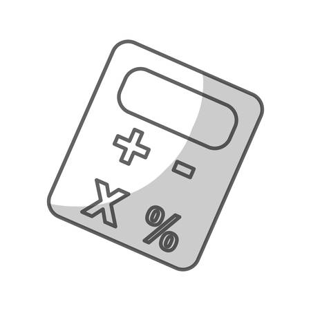 calculator device icon over white background. vector illustration Illustration