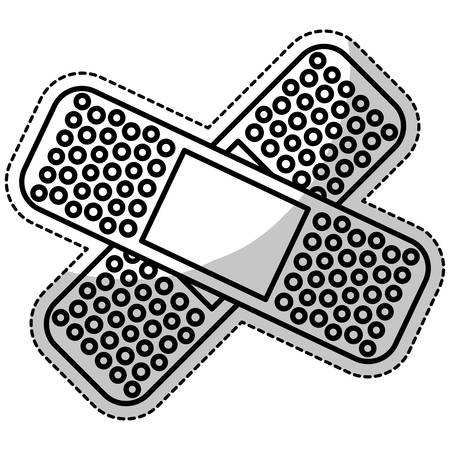 wound care: crossed bandages icon image vector illustration design