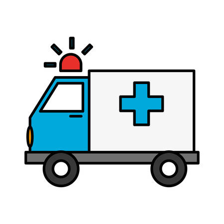 ambulance vehicle icon over white background. vector illustration