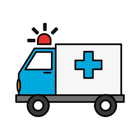 ambulance vehicle icon over white background. vector illustration