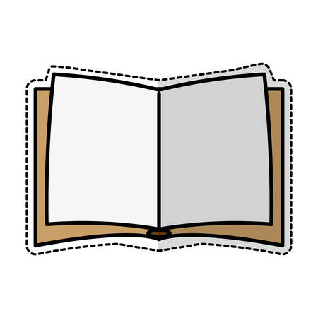 opened book: Opened book icon over white background. vector illustration
