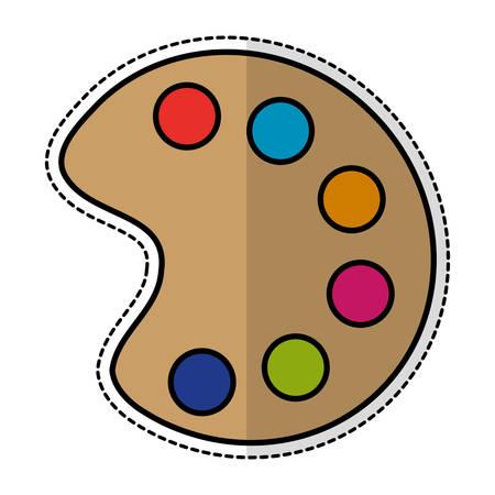 paint palette icon over white background. colorful design. vector illustration Illustration