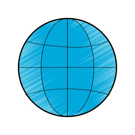 parallel world: blue global connection world sphere icon over white background. vector illustration