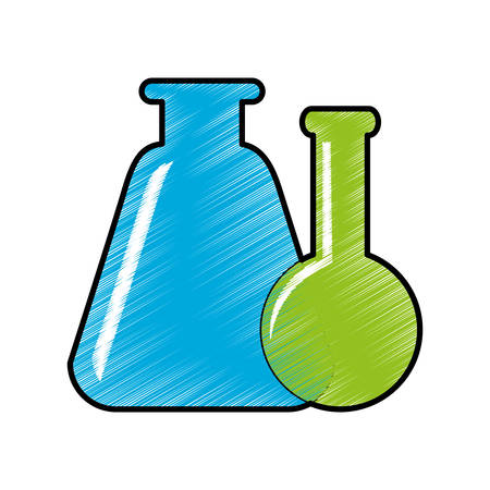 chemistry flask icon image vector illustration design