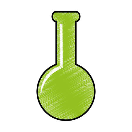 toxic substance: chemistry flask icon image vector illustration design