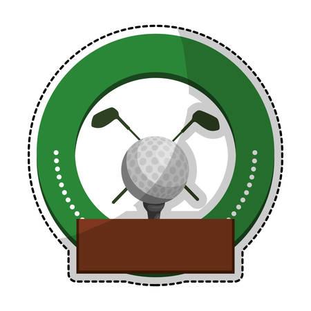 golf emblem icon image vector illustration design