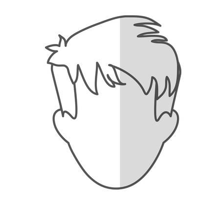 shaggy: man with shaggy hair icon image vector illustration design