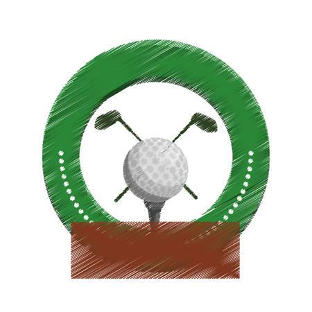 dimple: golf emblem icon image vector illustration design