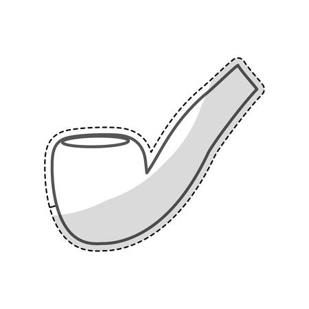 pipe for smoking icon over white background. vector illustration Illustration