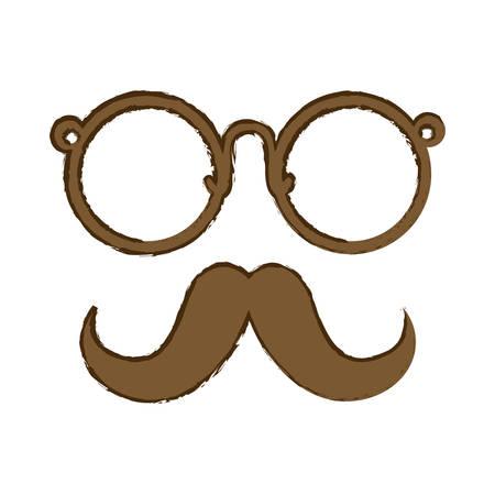 hipster man icon image vector illustration design Illustration