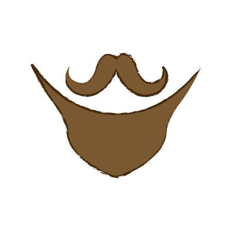 vintage mustache icon image vector illustration design