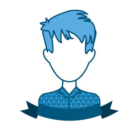 shaggy: faceless man with shaggy hairstyle icon image vector illustration design