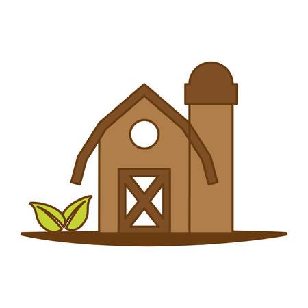 silos: farm barn icon over white background. colorful design.  vector illustration