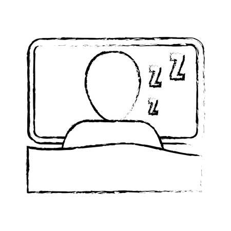 Homme icône dormir sur fond blanc. vue de dessus. illustration vectorielle Banque d'images - 66725730