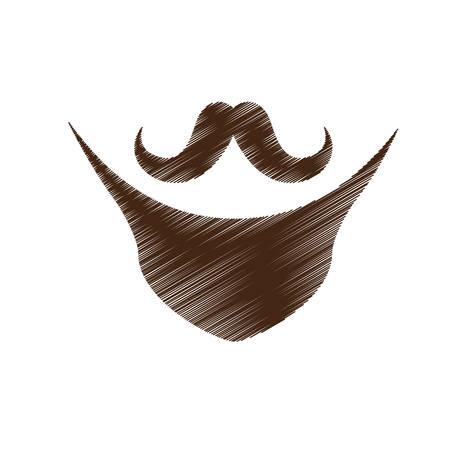 facial hair: vintage facial hair icon image vector illustration design