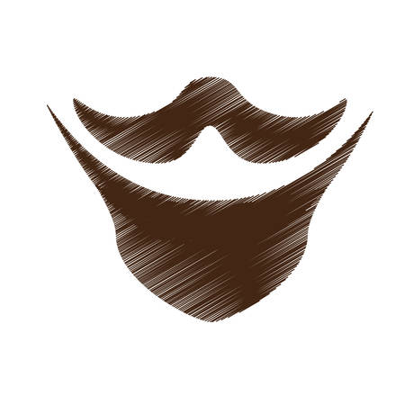 fake mask: vintage facial hair icon image vector illustration design