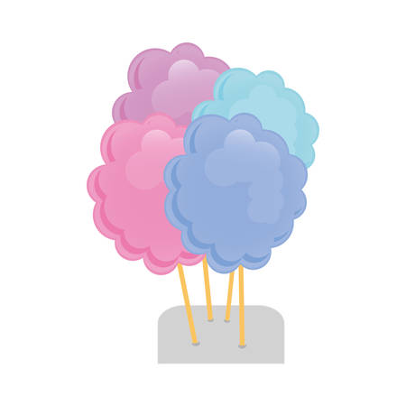 candy floss: cotton candy icon image vector illustration design
