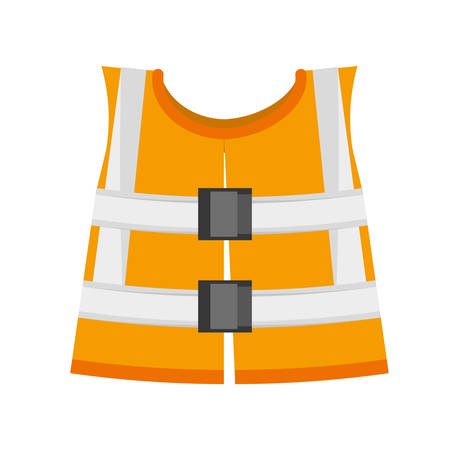 reflective vest: reflective vest safety work vector illustration eps 10 Illustration