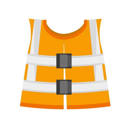 reflective vest safety work vector illustration eps 10 Illustration