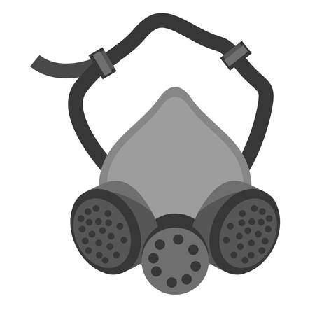 mask and respirator protective equipment vector illustration eps 10 Illustration