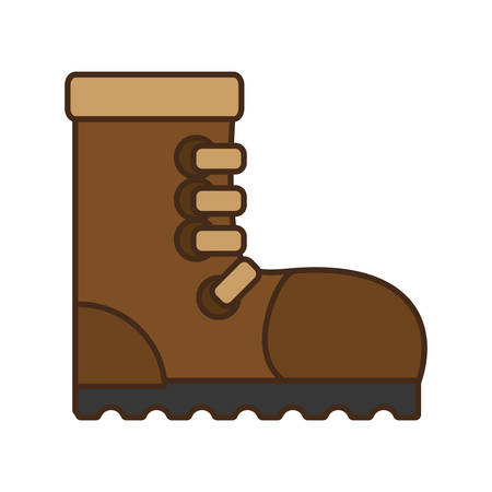 safety equipment: cartoon industrial boot safety worker industrial design vector illustration eps 10 Illustration