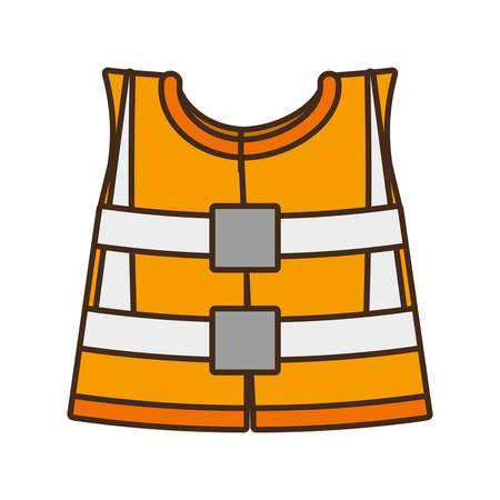 reflective: cartoon reflective vest safety work design vector illustration eps 10