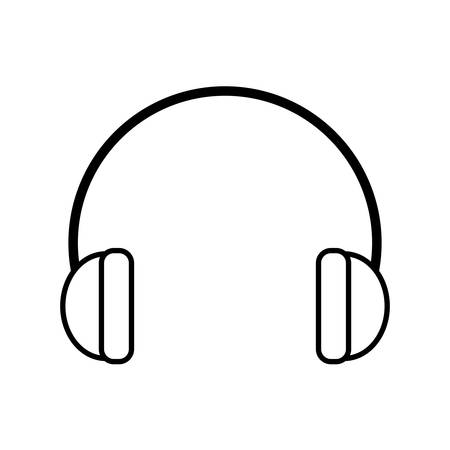 ear muffs: outline hearing protection industrial element vector illustration eps 10 Illustration