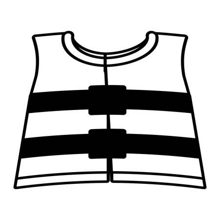reflective: outline reflective vest safety work vector illustration eps 10 Illustration
