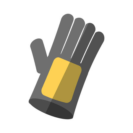 cartoon glove protection industrial shadow vector illustration eps 10 Illustration