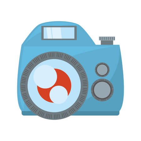 photo camera flash picture beach vector illustration eps 10 Illustration