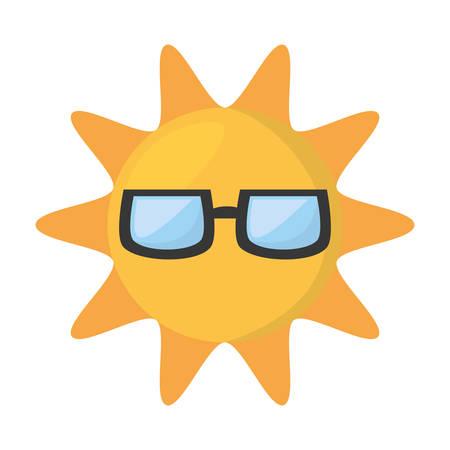 funny glasses: cute sun funny glasses hot vector illustration eps 10