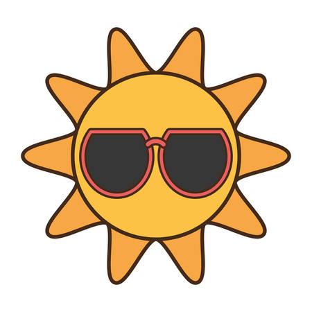 sun funny glasses funny icon vector illustration eps 10
