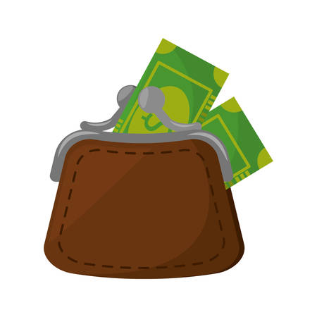 money wallet: money wallet with bills isolated icon vector illustration design
