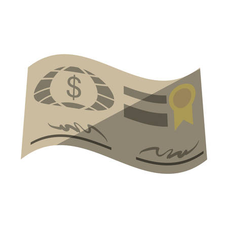 bank check paper isolated icon vector illustration design Illustration