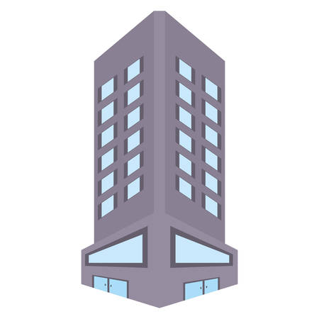 city scene: big building style icon vector illustration design