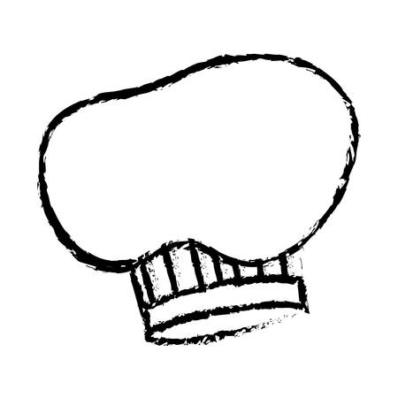hat chef drawn accesory icon vector illustration design