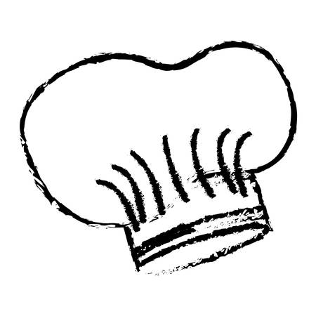 accesory: hat chef drawn accesory icon vector illustration design