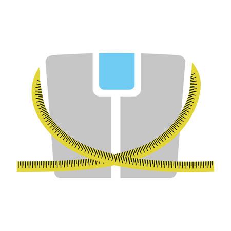 losing control: scale weight lose icon vector illustration design