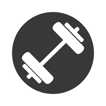 weight lifting gym accesory icon vector illustration design