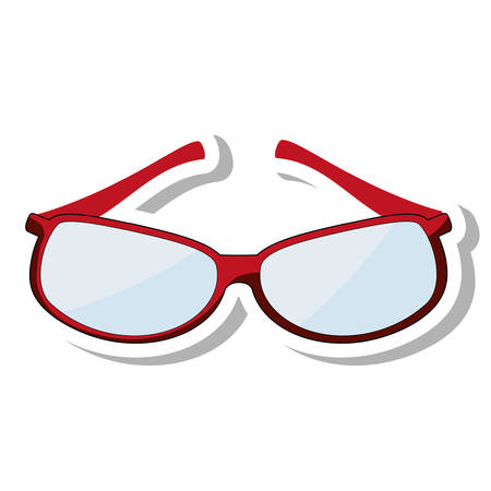 eyewear fashion: glasses modern style isolated icon vector illustration design Illustration