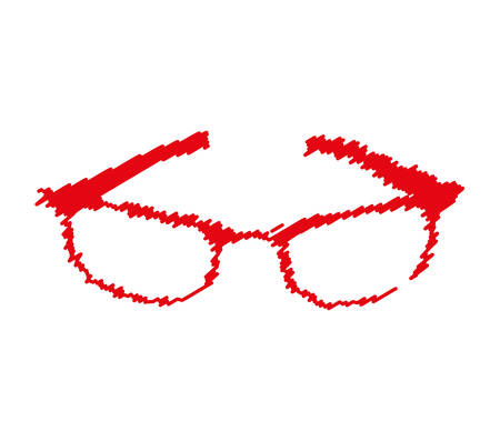 eyewear fashion: glasses modern style drawing isolated icon vector illustration design Illustration